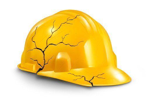 casco lavoratore  danneggiato