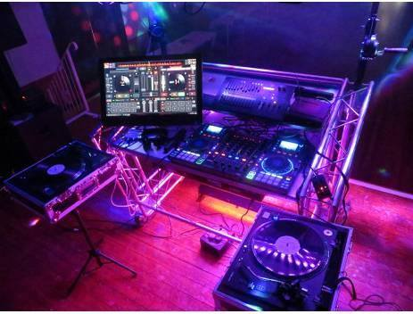 DJ console at a Wedding party
