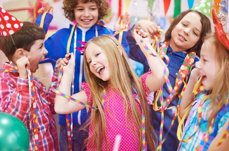 children enjoying the party