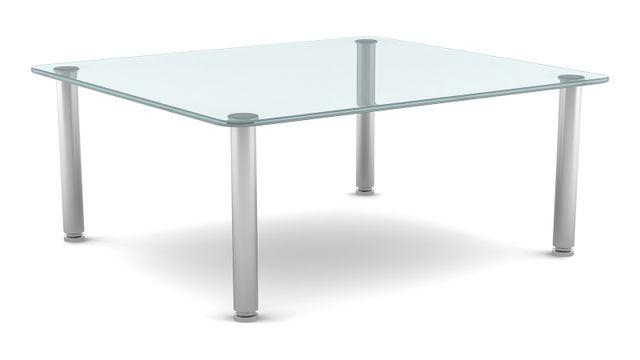 un tavolo di cristallo