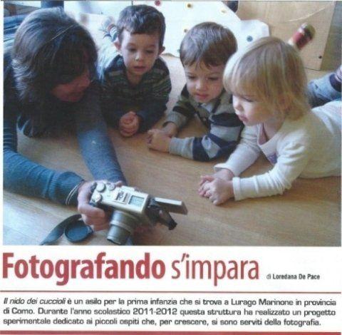 il nido dei cuccioli - Fotografando s'impara - Articolo apparso sulla rivista specializzata FOTOCULT-tecnica e cultura della fotografia