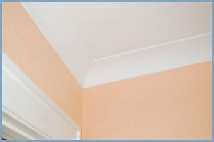 Plastered ceiling and coving detail