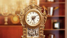 ornate antique clock