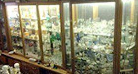 glass display cabinets full of treasure