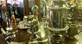 silver tableware and porcelain figurines