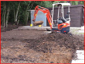 how to drive a mini digger