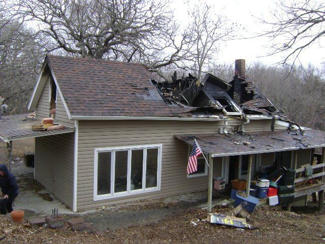 Fire Damaged home in need of fire damage restoration