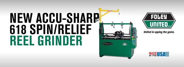 NEW ACCU-SHARP 618 SPIN/RELIEF REEL GRINDER–ECONOMICAL FULL