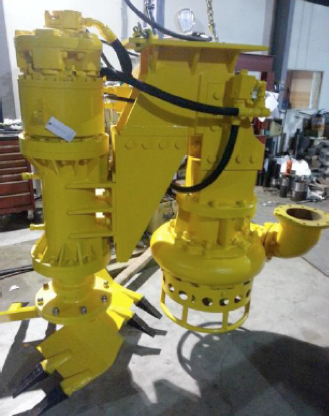Heavy duty pump brought at site for installation