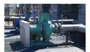Installed heavy duty pump