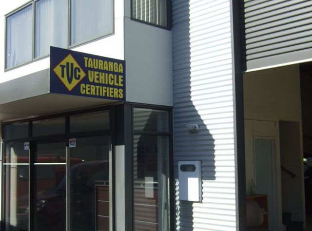 Exterior of vehicle inspection workshop in Tauranga