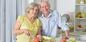Anziano a dieta
