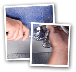 Commercial plumbing - South East London - The Considerate Plumber - repairing pipe