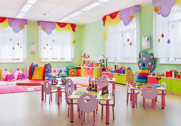 Sala con giochi per bambini