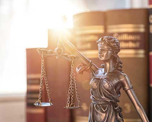 Immagine della dea della giustizia