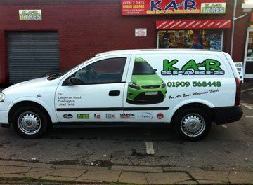 Car spares - Dinnington, Sheffield - K And R Spares - Van