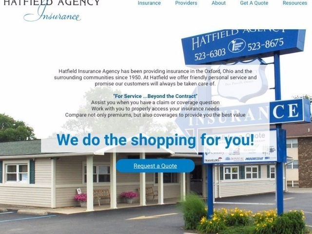 Website design for insurance agency in oxford ohio