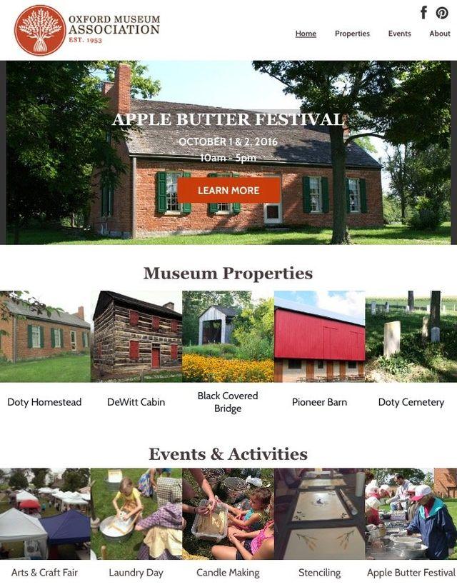 oxford website design company museum