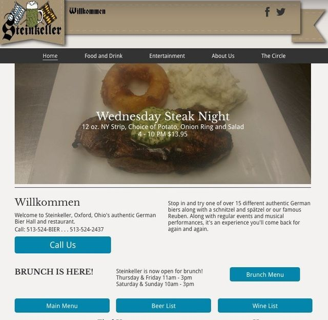 oxford ohio website design restaurants