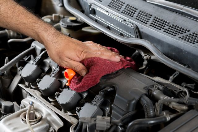 View of car servicing expert in Preston