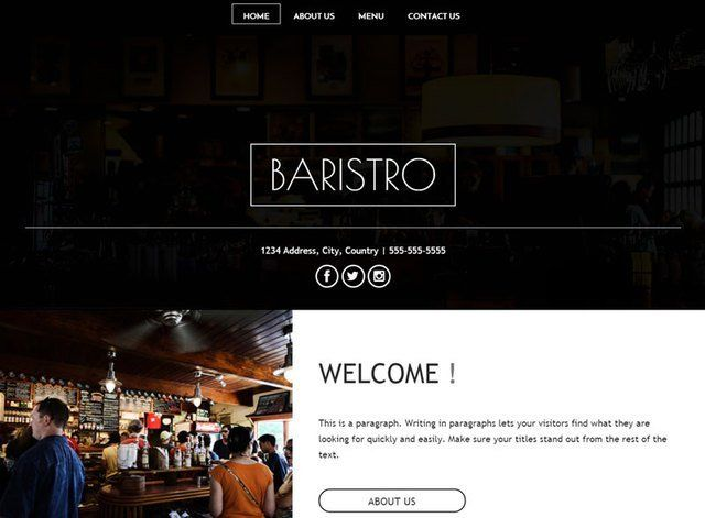 Baristro Website Design Themes by Search Marketing Specialists