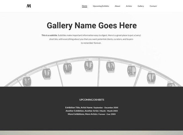 Exhibition Website Design Themes by Search Marketing Specialists