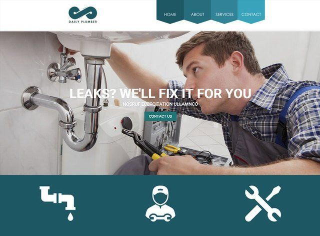 Plumbers Theme 1 Website Design Themes by Search Marketing Specialists