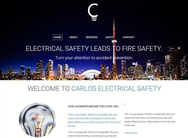 Electrian Theme 3 Website Design Themes by Search Marketing Specialists
