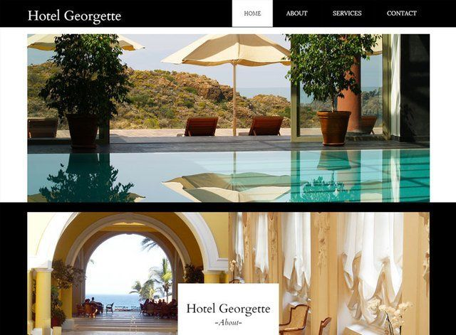 Hotel Theme 2 Website Design Themes by Search Marketing Specialists