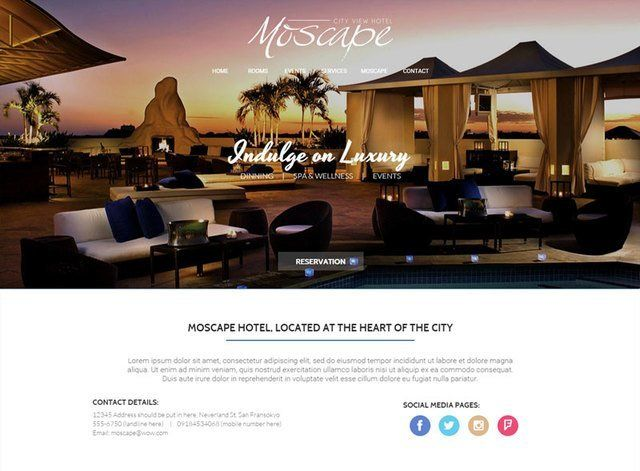 Hotel Theme 3 Website Design Themes by Search Marketing Specialists