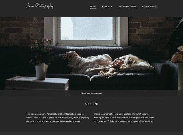 Jane Photography Website Design Themes by Search Marketing Specialists