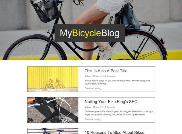 My Bicycle Blog Website Design Themes by Search Marketing Specialists