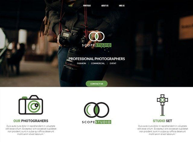 Porfolio Theme 3 Website Design Themes by Search Marketing Specialists