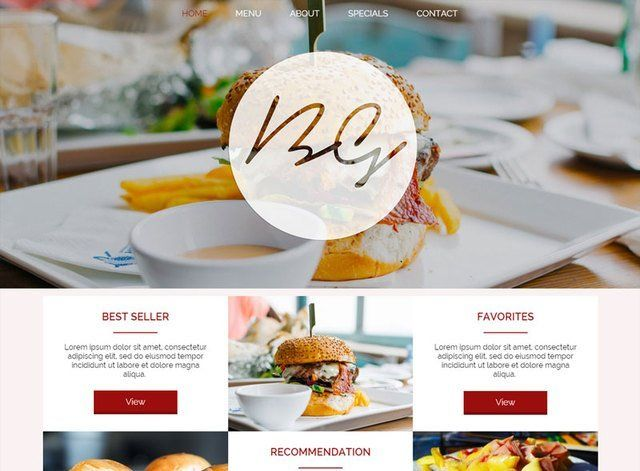 Restaurant Theme 3 Website Design Themes by Search Marketing Specialists