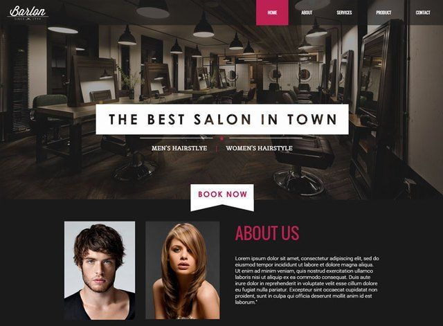 Salon Theme 2 Website Design Themes by Search Marketing Specialists