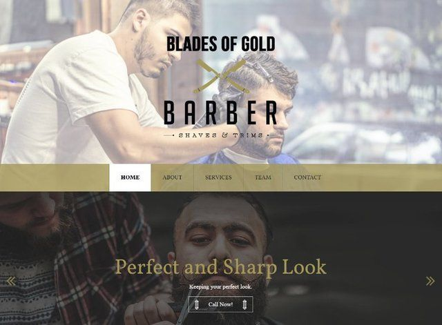 Barber Shop Website Design Themes by Search Marketing Specialists