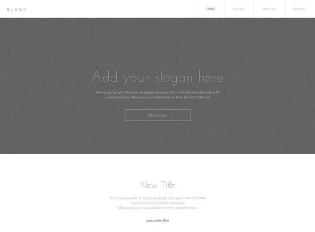 Blank Parallax Website Design Themes by Search Marketing Specialists