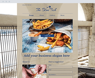 Blue Fish Website Design Themes by Search Marketing Specialists