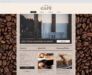 Cafe Website Design Themes by Search Marketing Specialists