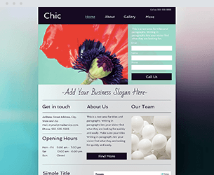 Chic Website Design Themes by Search Marketing Specialists