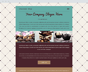 Chocolate Website Design Themes by Search Marketing Specialists