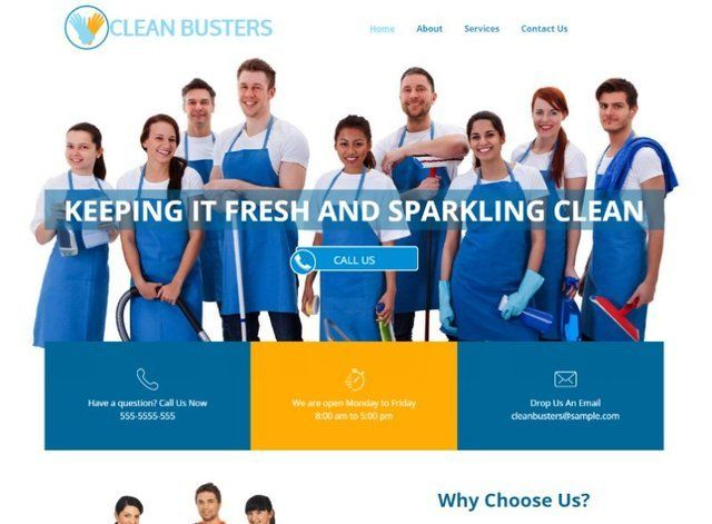 Cleaning Website Design Themes by Search Marketing Specialists