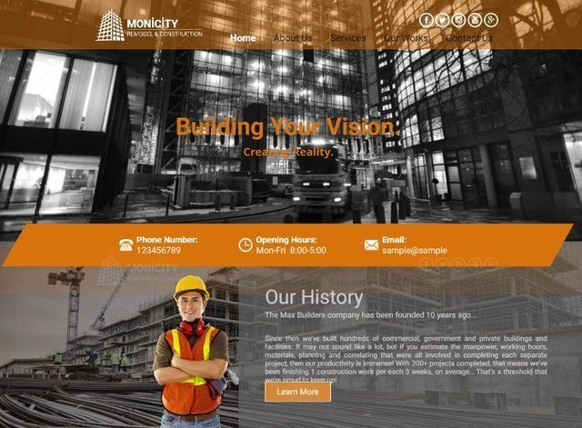 Construction Website Design Themes by Search Marketing Specialists
