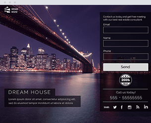 Dream House Website Design Themes by Search Marketing Specialists