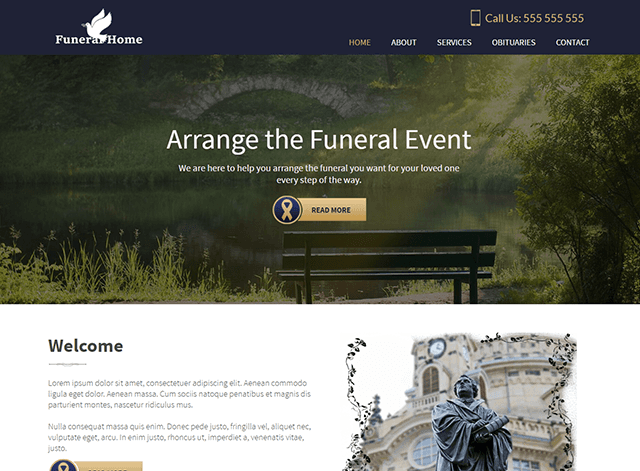 Funeral Website Design Themes by Search Marketing Specialists