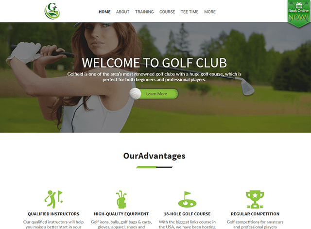 Golf Club Website Design Themes by Search Marketing Specialists
