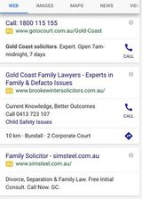 Mobile Google Adwords Layout