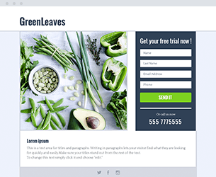 Green Leaves Website Design Themes by Search Marketing Specialists