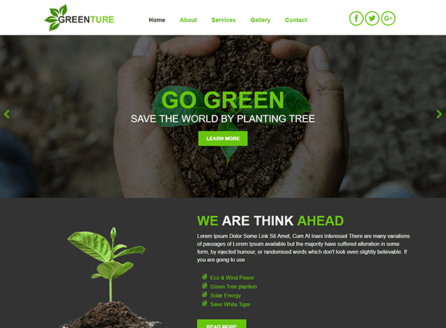Nature Website Design Themes by Search Marketing Specialists