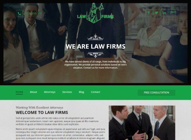 Law Website Design Themes by Search Marketing Specialists